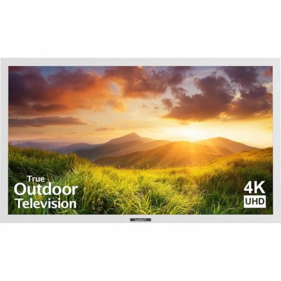 """SunBriteTV - 55"""" Class (55"""" Diag.) - LED - Outdoor - 2160p - 4K Ultra HD TV - White - Front Zoom"""
