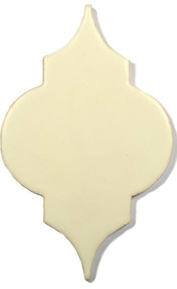 White Ceramic Handmade Tile - Marrakesh, glaze - White Chocolate
