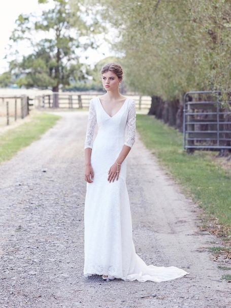 The broom wedding dress is an ivory lace vintage inspired delight. Made in Melbourne by Hello Lovers Australia.