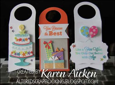 Altered Scrapbooking: Birthday Wine Bottle Tags