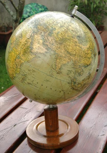 antique large globe by columbus circa 1930 antique globe terestial star celestial antiquit s. Black Bedroom Furniture Sets. Home Design Ideas