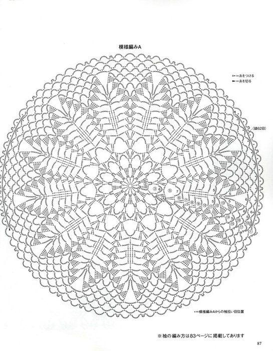 Crochet doily chart pattern