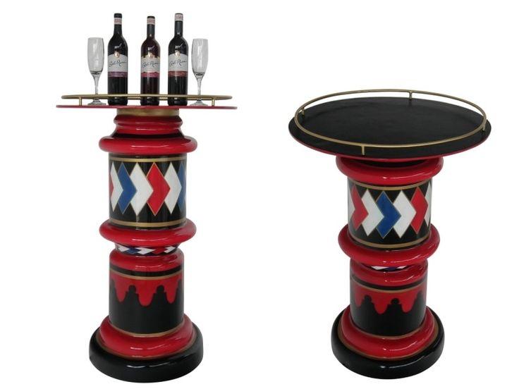B0568 - Vintage Barber Pole Display Table - 4 - B0568 - Vintage Barber Pole Display Table - 4.jpg