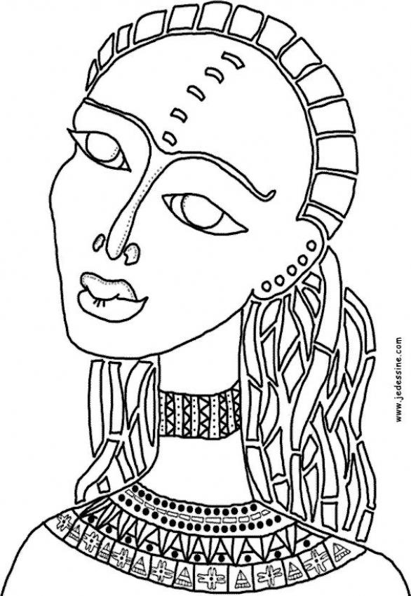 african color sheets for kids | African woman - AFRICA coloring pages