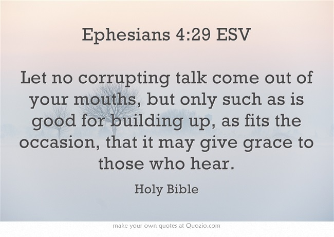 Image result for eph 4:29