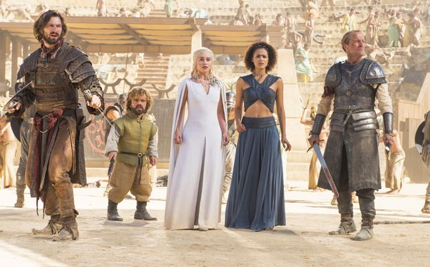 Game of Thrones is the king of the Emmys.  The 67th Annual Emmy Awards crowned HBO's fantasy hit with its highest honor Sunday night, with Thrones winning the award for outstanding drama series.