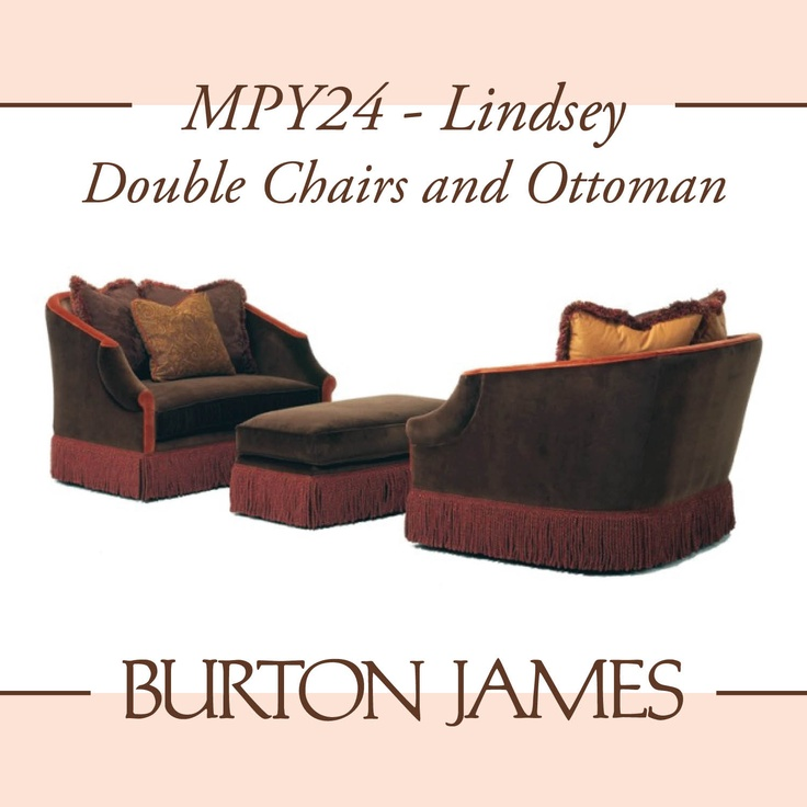 Burton James Mpy24 Lindsey Double Chairs And Ottoman Chairs Pinterest Ottomans James D