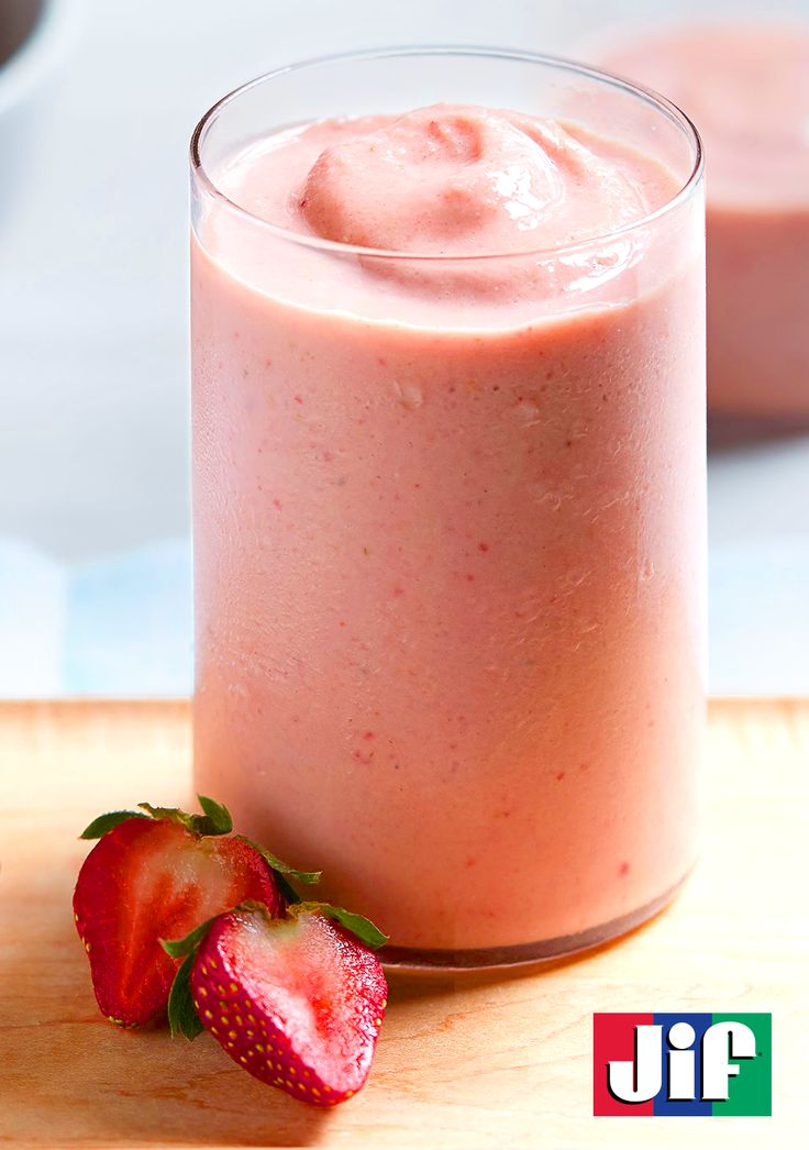 Our PB&J Smoothie is a great drink to help start your day. Its fruity strawberry and banana flavors with a hint of peanut powder make for a delightful taste. Not to mention, this drink takes only 5 minutes to make.