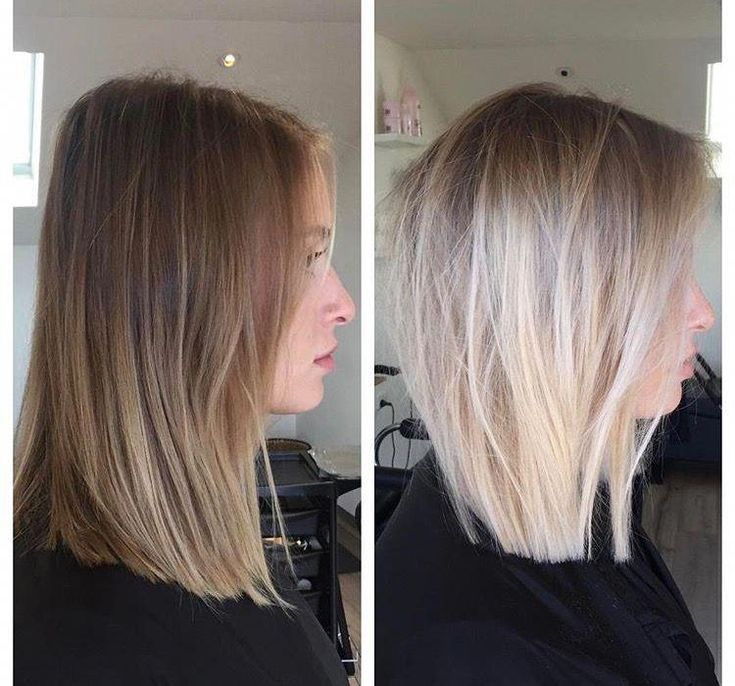 Love this cut and coloring #ombremediumhair