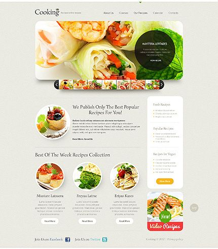 simple restaurant web design