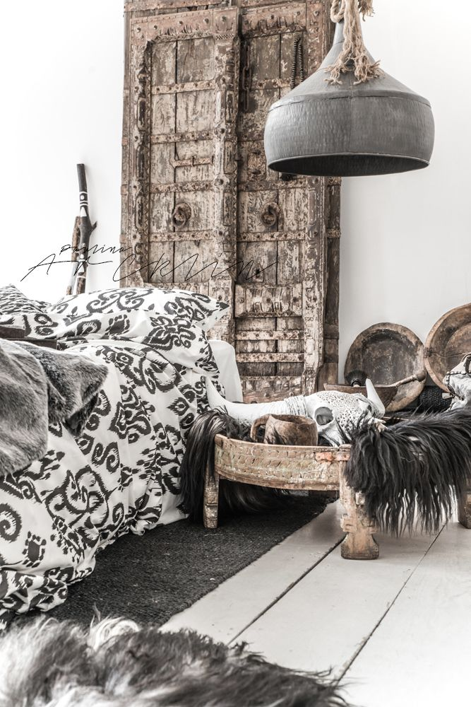 © Paulina Arcklin | NOMADS Panthera Ikat bedding available on www.bohzaar.co.uk | Styling Conny Meijer