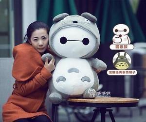 BIG White Hero Baymax Turned Totoro Cotton Plush Stuffed Animal 2 Pattern | eBay