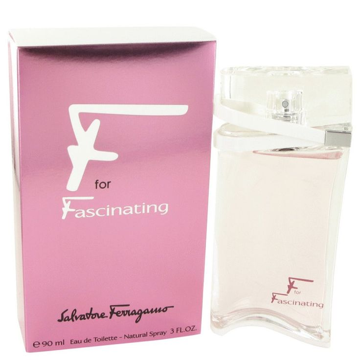 F For Fascinating By Salvatore Ferragamo Eau De Toilette Spray 3 Oz