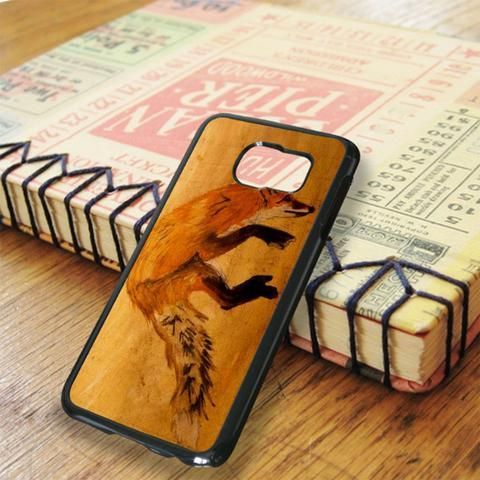 Wood Orange Fox Samsung Galaxy S6 Edge Case