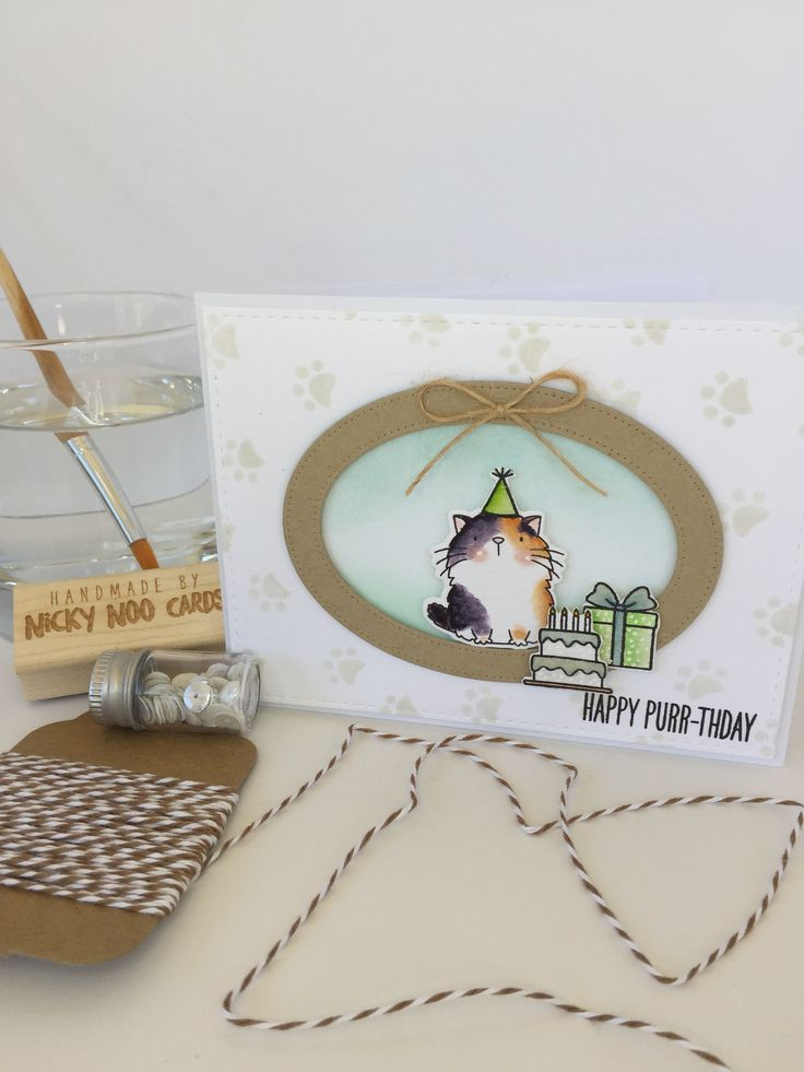 MFT Cool Cat; birthday; punny; fat cat; adorable; Card by Nicky Noo Cards #nickynoocards and https://www.facebook.com/nickynoocards/