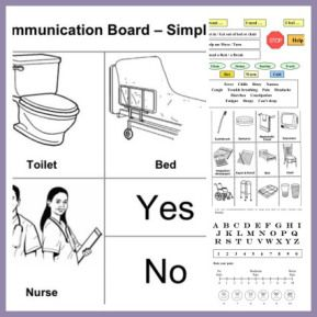 Good resource for FREE communication boards (simple and complex) for adults