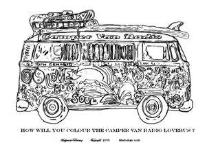 Aircooled The Campervan Colouring Book For Kids And Adults A New 32