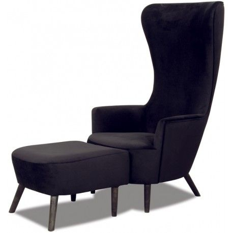 Fotel Maxback Lord Design + podnóżek