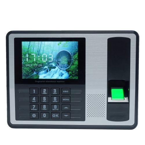 Biometric Fingerprint Password Attendance Machine Employee Checking-in Recorder 4 inch TFT LCD Screen DC 5V Time Attendance Clock