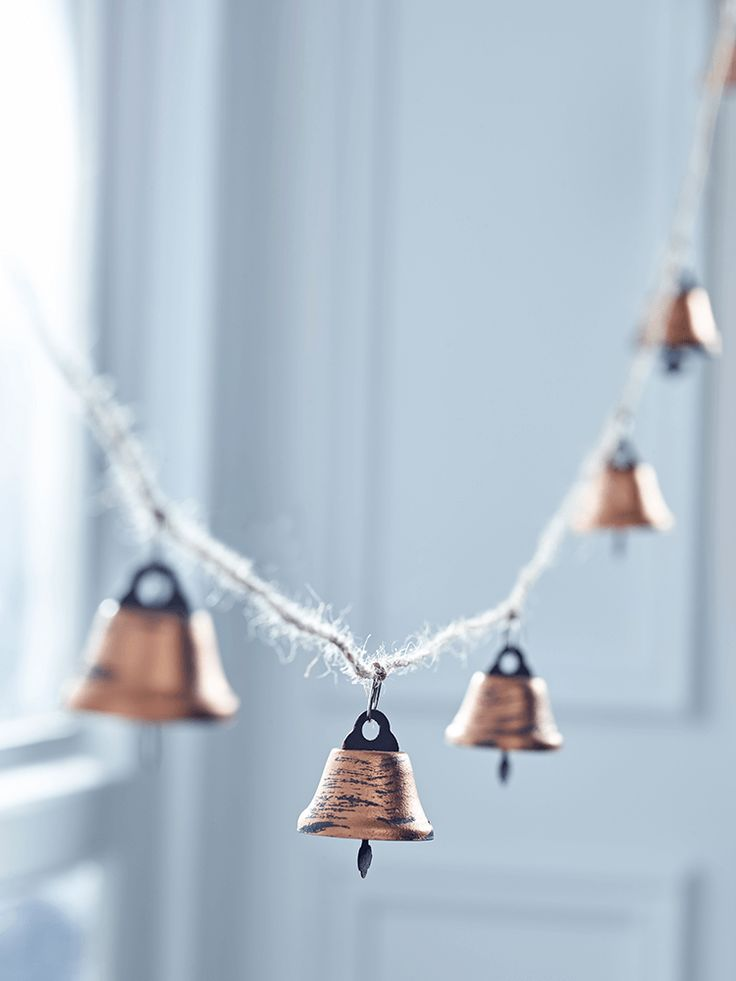 Copper Jingle Bell Garland - Oh My Word - for sure required at Christmas time for my new office!