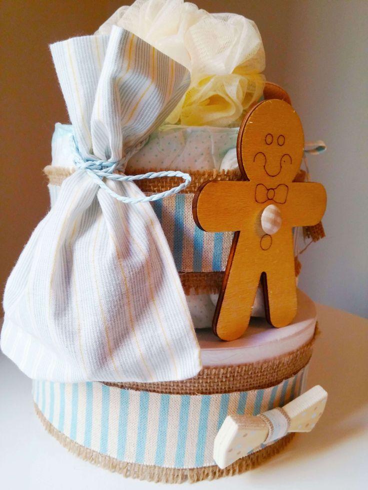 DIY mini Diaper Cake! - Violetmimosa