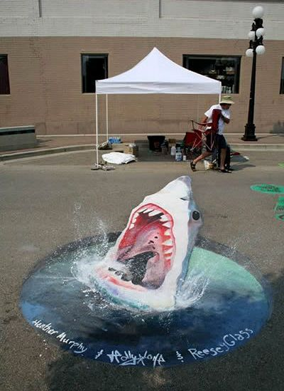 Best Art Anamorphic Images On Pinterest Paper DIY And - Anamorphic art looks real