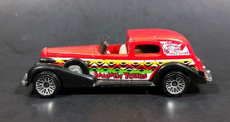 1998 Hot Wheels Tropicool '35 Classic Caddy Jammin' Tours Red Die Cast Toy Car Vehicle https://treasurevalleyantiques.com/products/1998-hot-wheels-tropicool-35-classic-caddy-jammin-tours-red-die-cast-toy-car-vehicle #1990s #90s #Nineties #HotWheels #Tropicool #1930s #30s #Thirties #Classic #Caddy #Cadillac #Jammin #Tours #DieCast #Toys #Cars #Vehicles #Autos #Collectibles #NiceColor