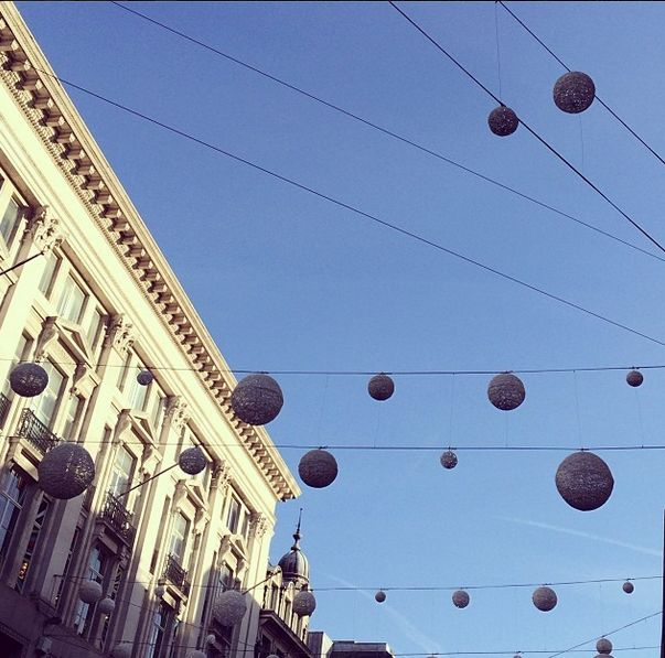 Oxford Street during the holidays