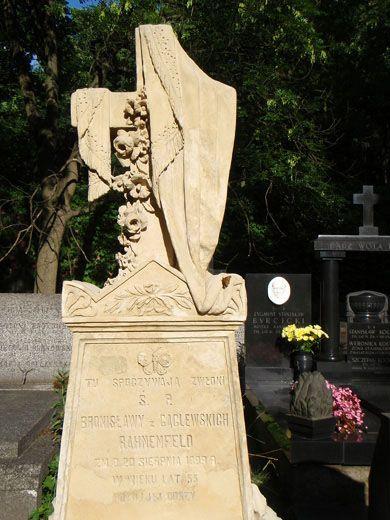 iPowązki: Grób Bronisława Rahnenfelda na Starych Powązkach w Warszawie, Bronisław Rahnenfeld, Nietypowe pomniki, Powązki, Cmentarz Powązkowski, Warszawa, Powązki Cemetery, Warsaw, Poland.