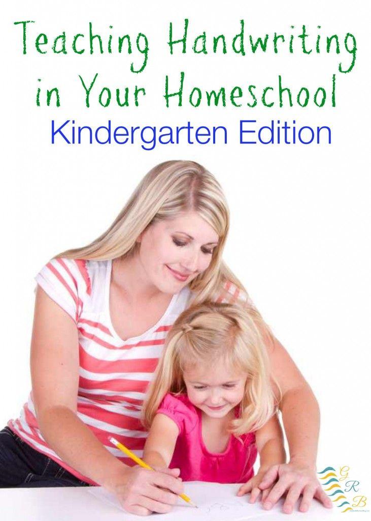 Tips and tricks for Teaching Handwriting in your Homeschool - Kindergarten Edition | www.GoldenReflectionsBlog.com