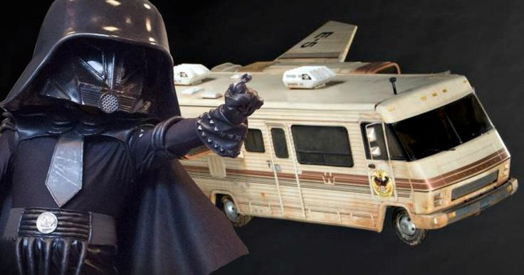 Spaceballs Winnebago & Rick Moranis' Helmet Go Up for Auction -- The original Dark Helmet headpiece worn by Rick Moranis in Mel Brooks' Spaceballs goes up for auction. -- http://movieweb.com/spaceballs-props-auction-dark-helmet-winnebago/