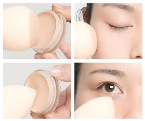 Dampen your sponge to apply foundation