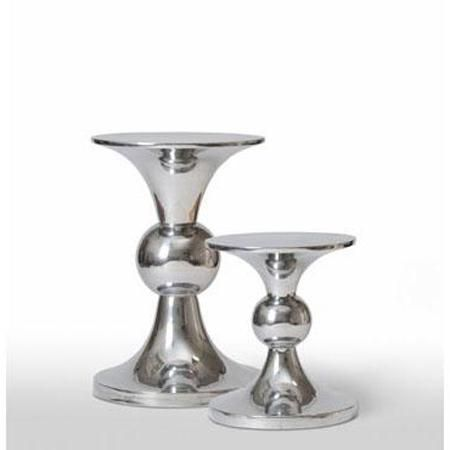 Polished Cast Aluminum X Circus Table By Barbara Cosgrove Candelabra Tinitables