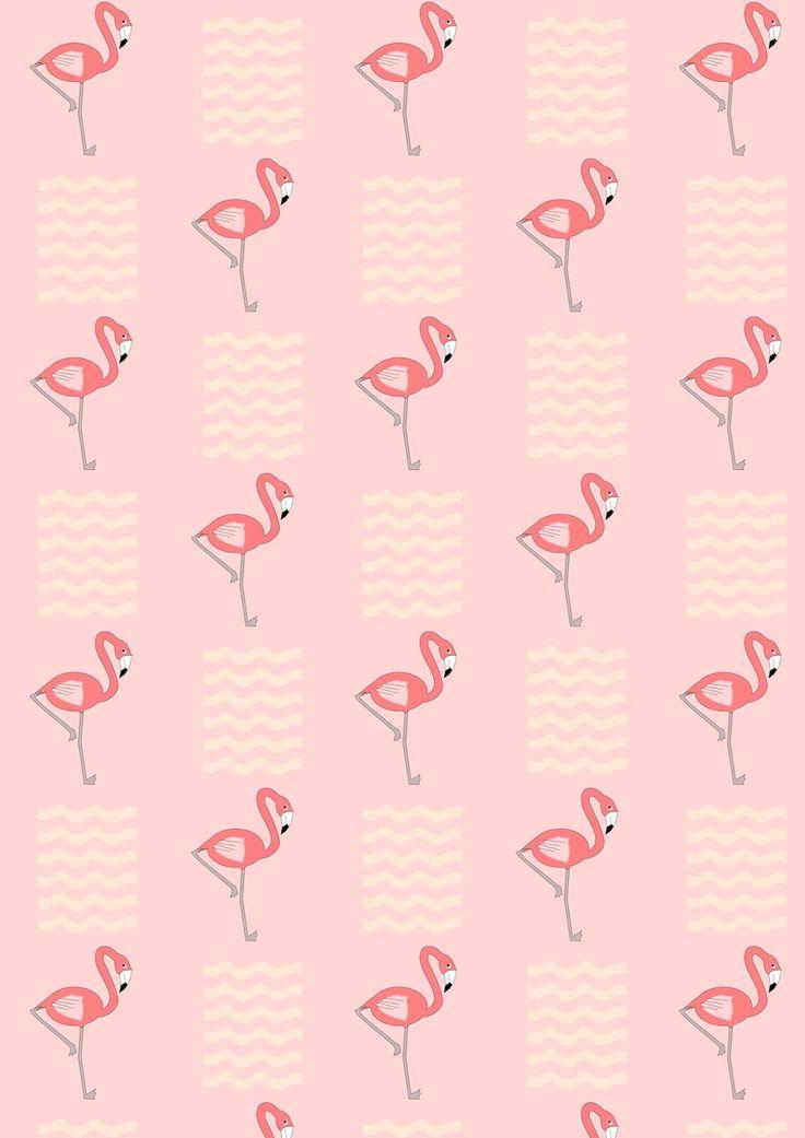 FREE printable flamingo pattern paper