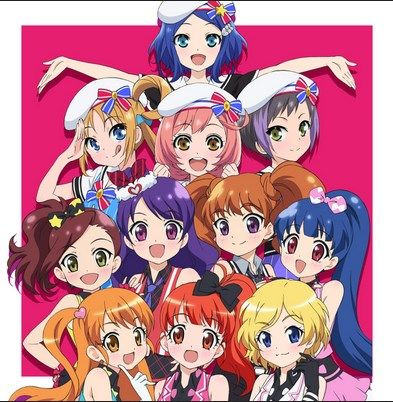 The main characters of Pretty Rhythm: Aurora Dream, Dear my Future, and Rainbow Live