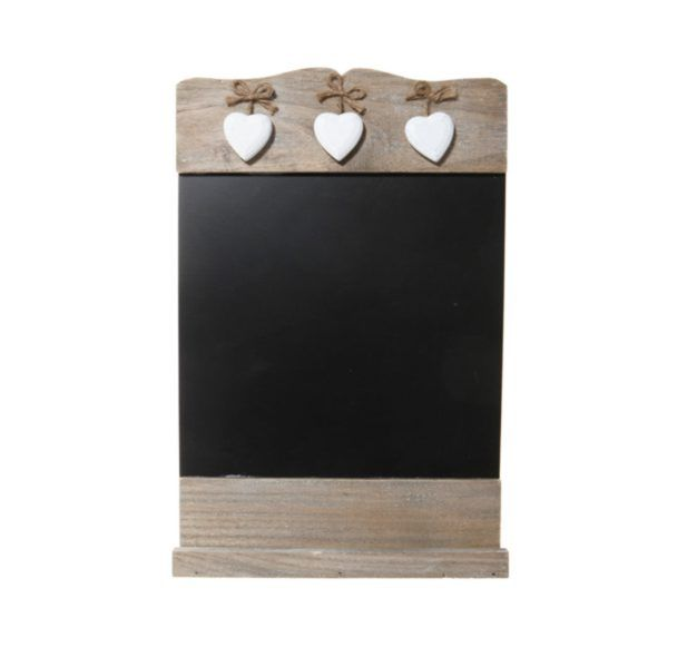 https://www.sassandbelle.co.uk/Chalk Board With 3 Wooden Hearts