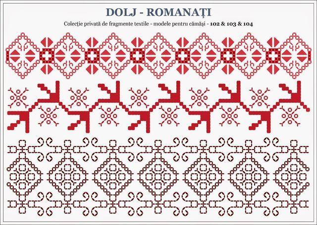 Romanian traditional motifs - OLTENIA; Dolj-Romanati | Semne Cusute | Bloglovin'