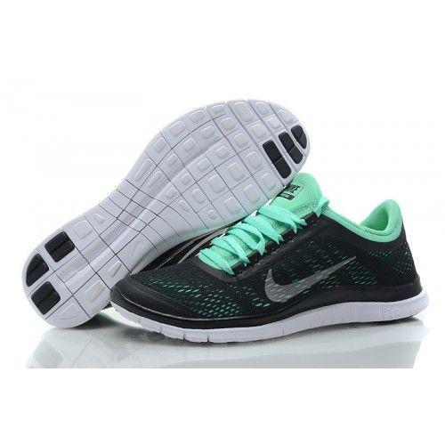 černé/zelená - Dámské Nike Free 3.0 V5 boty