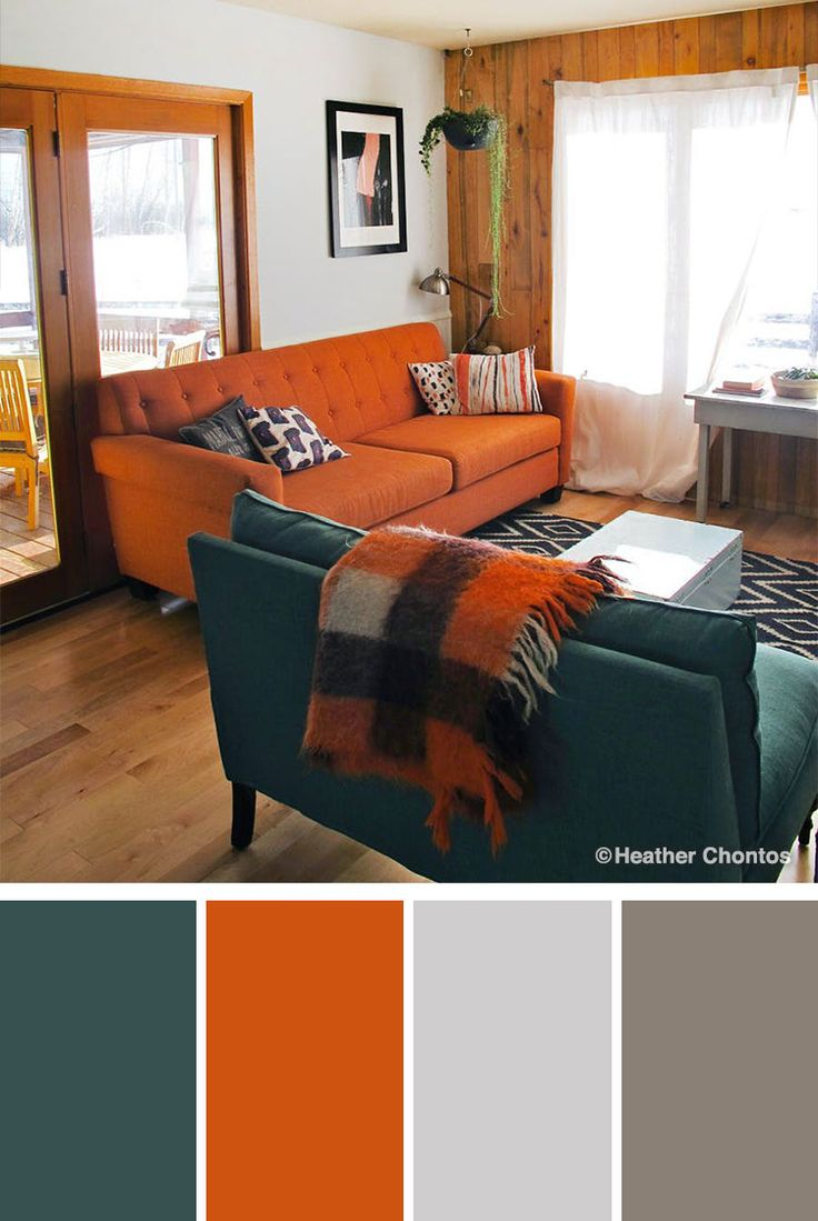 amazing orange green paint colors living rooms | 10 Stylish Green Color Combinations and Photos | Blue ...