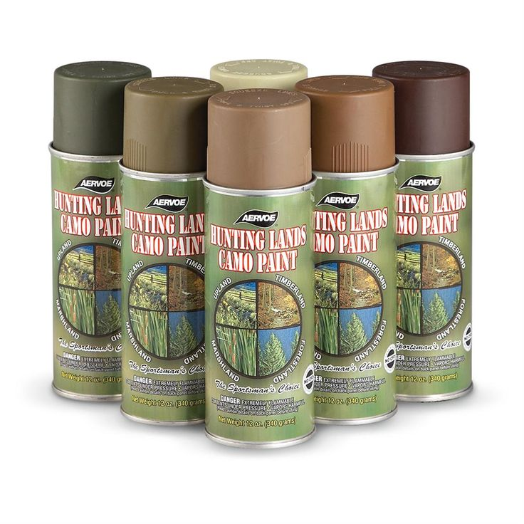 hunting lands camo paint your spray on camo for metal wood and more - Camo Paint Colors