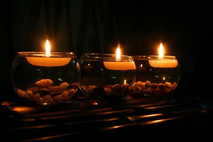 Vela flotante para centro de mesa de bodas o decoraci n de interiores velas que flotan aluzza - Decoracion con velas ...