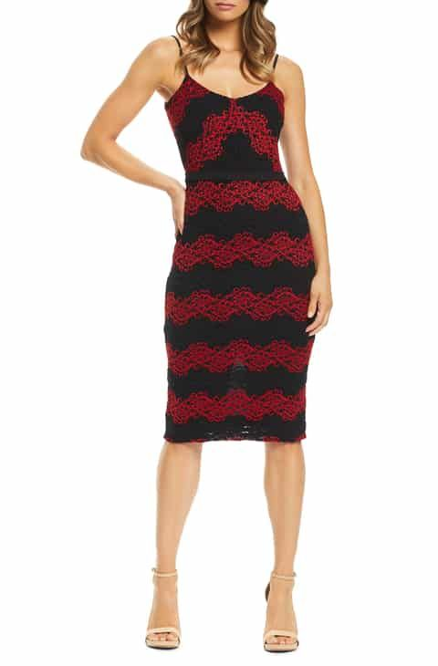 76751b6672ec Dress the Population Whitney Lace Body-Con Dress Best Reviews in ...