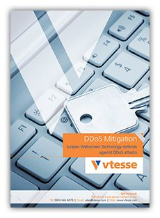 Vtesse's DDoS Mitigation service utilises advanced technology to address these challenges, allowing you to maintain the integrity and availability of your web infrastructure and applications. Downloand the brochure from http://www.vtesse.com/about-us/brochures/