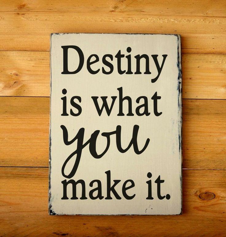 Inspirational Quotes On Wood: Graduation Gift Inspirational Custom Wood Sign Destiny Is