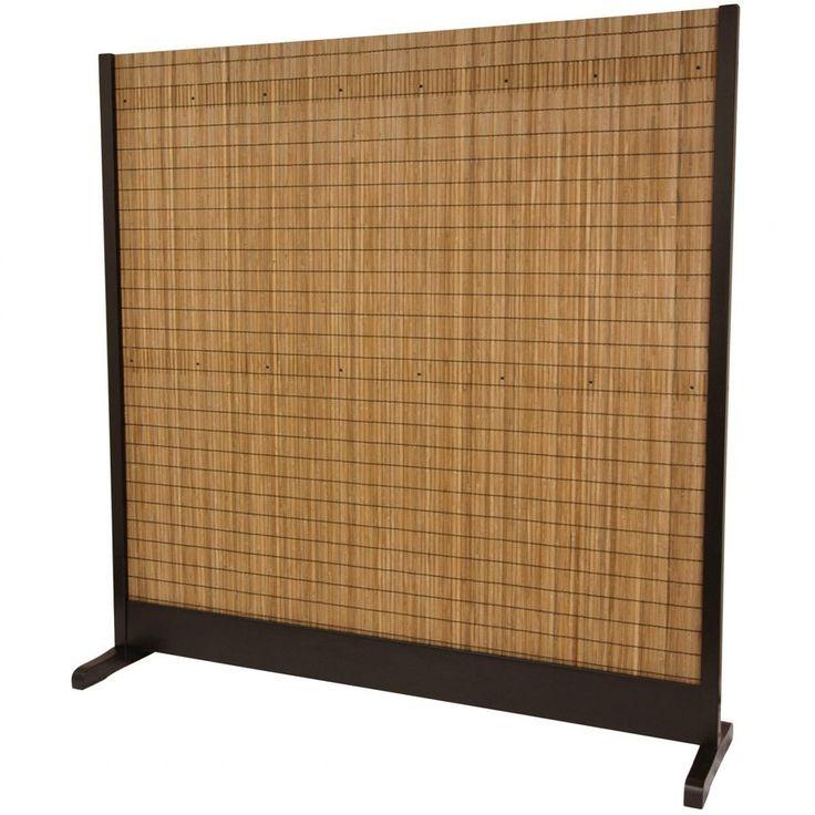 Oriental Furniture 1-Panel Walnut Bamboo Indoor Privacy Screen
