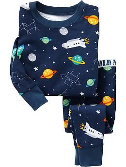 Space-Print PJ Sets for Baby | Old Navy