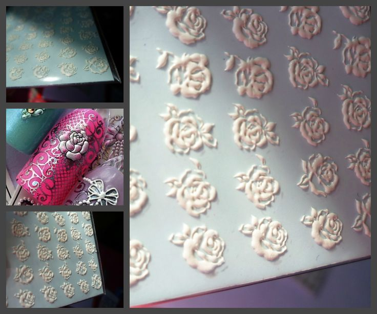 3-D Nail Stickers. #3Dstickers #fashion #nails #nailart #beauty #beautynails