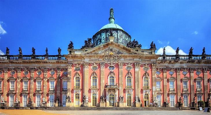 Neues Palais, Potsdam - Novo Palácio de Potsdam, Alemanha Palácio construído pelo rei Frederio II da Prússia.