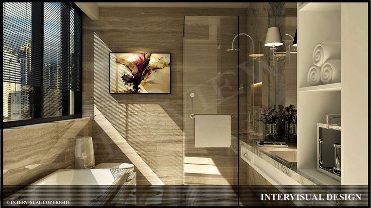 Desain kamar mandi untuk apartemen   Portofolio By : Intervisual (Interior Designer di Sejasa.com)