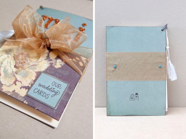 Een boekje voor alle kaarten van de bruiloft :)  //. 15 superleuke DIY's voor je bruiloft | ThePerfectWedding.nl